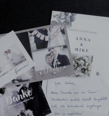 Danksagungskarten für meine Leistungen, Rezensionen, Hochzeitskarte