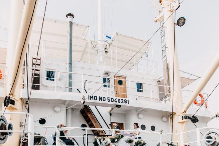 freie Trauung auf dem Schiff, MS Bleichen Hamburg, Hamburger Hafen, maritime Hochzeit