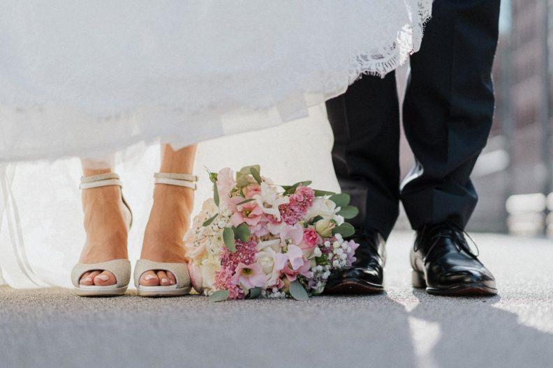 Brautpaarshooting, Brautschuh